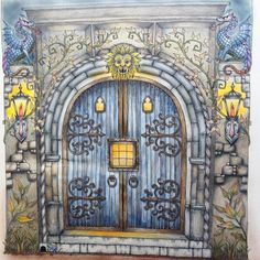 Book Enchanted Forest Used Coloured Pencils Colouringforadults Colouringforgrownups Colouringbooks