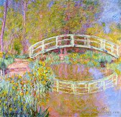 Claude Monet Most Famous Paintings   ... Monet Claude France 1840 1926>3 la Pont En Monet S Jardin Claude Monet