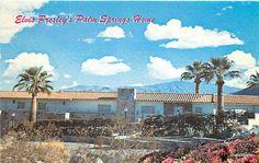 vintage palm springs postcards   Elvis's Palm Springs home