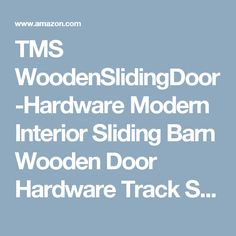 TMS WoodenSlidingDoor Hardware Modern Interior Sliding Barn Wooden Door  Hardware Track Set, Stainless Steel Great Pictures