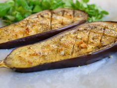 Simple aubergine grilled in the oven Meat Recipes, Dinner Recipes, Healthy Recipes, Free Recipes, Aubergine Parmesan, Healthy Cooking, Batch Cooking, Healthy Food, Eggplant