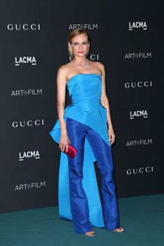 Diane Kruger in a Monique Lhuillier two-piece ensemble at the LACMA 2015 Art Film Gala on Saturday. Photo: Frederick M. Brown/Getty Images