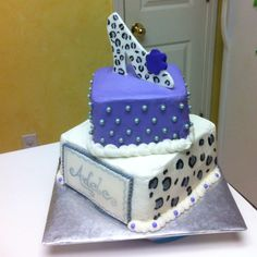 Leopard themed birthday cake.