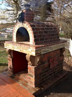 One of our favs! Never thought we would see a customer build a wood fired pizza…