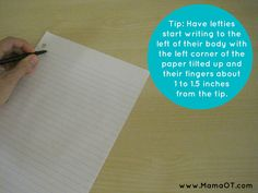 Tips for Teaching Left Handed Children to Write
