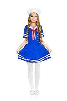 Girls' Sea Sweetie Navy Ship Mate Dress Up & Role Play Halloween Costume (6-8 years) #Sailor Halloween Costumes Sailor Halloween Costumes, Girls Christmas Outfits, Up Theme, Navy Ships, Role Play, Blue Dresses, Harajuku, Girl Outfits, Dress Up