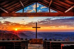 Sunrise from Fred W. Symmes Chapel on top of Standing Stone Mountain, Greenville, SC  Via~~ LD Coffey Pics