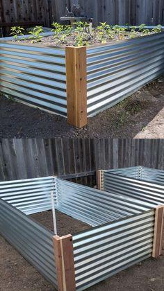 Garden Yard Ideas, Garden Boxes, Lawn And Garden, Diy Garden Box, Diy Garden Projects, Small Wood Projects, Easy Garden, Outdoor Projects, Raised Bed Garden Design