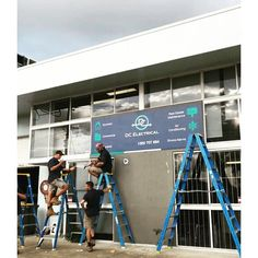 One of my favourite photos of the guys are putting up our new sign. Phone: 1300 707 694⠀ ⠀ Email: service@dceq.com.au⠀ ⠀ DC Electrical Office⠀ 2/24 Corunna St, Albion QLD 4010⠀ ⠀ ⠀ Servicing Brisbane & Surrounding Areas⠀ New Sign, Conditioning, Brisbane, Commercial, Signs, My Favorite Things, Phone, Travel, Instagram