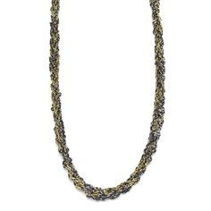 Crocheted silver and gold-filled mixed-chain necklace. Handmade by Kria in our Catskills studio using reclaimed precious metals, ethically. Precious Metals, Gold Chains, Beaded Necklace, Beads, Crochet, Silver, Handmade, Jewelry, Beaded Collar