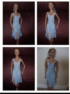 vestido ganchillo sofisticado. barbie crochet
