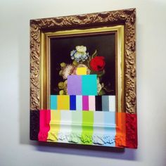 """chadwys:  """"chadwys:  """"A Painting of Flowers with Color Bars  Chad Wys (web/tumblr/fb/s6)  """"  ICYMI  """""""