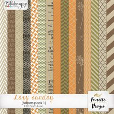 Lazy sunday {papers pack 1} By Fanette Designs