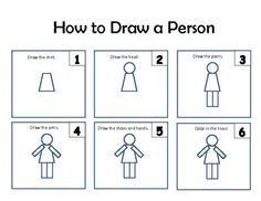 In kindergarten we are using one-step directions and shapes to draw common pictures.  I am using this the first few weeks and then hanging it in my...