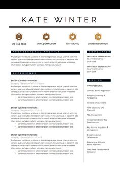 Cv sjabloon 19 pinterest cv template personal branding and template resume template 4 page cv template cover letter for ms word instant digital download the aqua spiritdancerdesigns Images