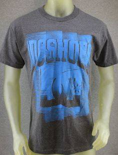 DC Shoes charcoal gray heather T-shirt with blue logo