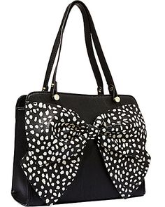 Black with polka dot bow. Betsey Johnson