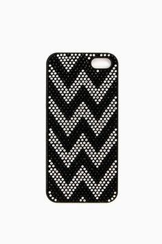 ShopSosie Style : Crystallized Chevron iPhone 5 Case in Black