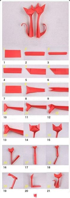 Origami is the traditional Japanese art of paper folding, which transforms a flat sheet of paper into a finished sculpture through folding and sculpting techniques. Here is a nice tutorial on how… Cat Origami, Origami And Kirigami, Origami Ball, Origami Paper Art, Origami Animals, Diy Paper, Paper Crafting, Oragami, Origami Boxes