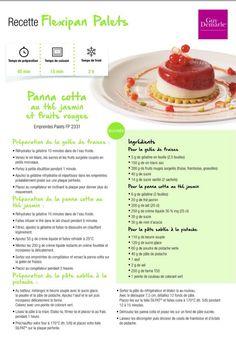 Panna cotta au thé jasmin et fruits rouges Moule Mini Tartelette, Panna Cotta, Dessert Recipes, Desserts, Tupperware, Muffins, Lunch Box, Cooking, Sweet