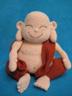 9 Cute Crochet Buddha Patterns: Laughing Buddha Amigurumi Monk Crochet Pattern