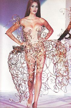 Thierry Mugler, 1992. no sitting down in this dress.