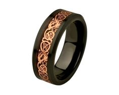 Unique Mens Wedding Band Celtic Rings Ceramic Wedding Band Promise Rings for Him Rose Gold Plated Celtic Dragon Inlay Mens Rings SNUJDCSQE by SIMPLEnUNIQUE on Etsy https://www.etsy.com/listing/202663130/unique-mens-wedding-band-celtic-rings