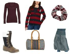 lindex top bandolera skirt roxy bag helly hansen boots Tommy Hilfiger tube scarf  Tommy Hilfiger blazer
