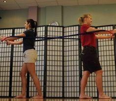 Upper Body Resistance Band Partner Workout postural-correction-exercises workout-motivation