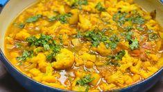 Vegan Dinner Recipes, Indian Food Recipes, Vegetarian Recipes, Ethnic Recipes, Cauliflower Curry, Cauliflower Recipes, Carrot Curry, Hippie Painting, Cooking
