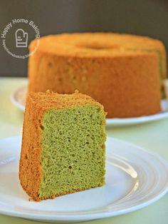 Happy Home Baking: Green Tea Chiffon