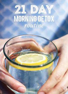 21 Day Morning Detox Routine #DailyHabits #HappyHabits #HealthyHabits #RunningYourLife