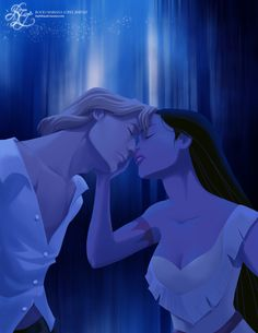 Pocahontas and John - disney-princess Fan Art