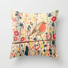 Buy je ne suis pas qu'un oiseau by Sylvie demers as a high quality Throw Pillow. Worldwide shipping available at Society6.com. Just one of millions of…
