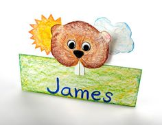 Did the groundhog see his shadow? Create a groundhog nameplate with Crayola® Color Sticks and make a prediction.