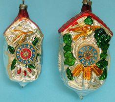 Glass Christmas Ornaments Clocks