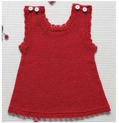Tricô no meu cantinho: Vestido de tricô para bebê