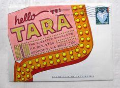 wendy xu - BRILLIANT vintage neon themed envelope