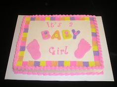 Baby Shower Sheet Cake Ideas For Girls   Google Search
