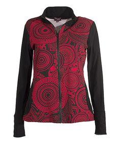 Look at this #zulilyfind! Red Abstract Medallion Jacket #zulilyfinds