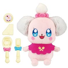 Bandai Kira Kira Precure A La Mode Itadakimasu Pekorin Stuffed Doll from Japan #Bandai