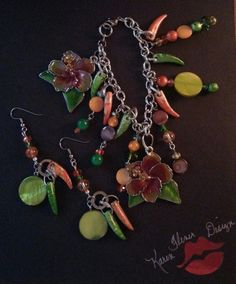 Check out this item in my Etsy shop https://www.etsy.com/listing/228313225/hibiscus-shades-of-summer-braclet