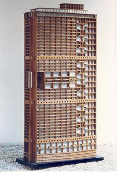 Model of Le Corbusier's Tour Algiers, Algeria.