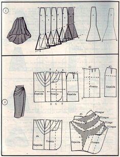 Verschiedene Rockschnitte - Different Skirt Pattern