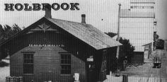 Holbrook, Nebraska. Isaac Burton's Trading Post, established in the 1870s, pictured some years later. In addition to the post office, Burton traded in dried buffalo meat, staples, hay, and guns. Standing for many years in the wooded area where Deer Creek joins the Republican River, it was swept away in the 1935 flood.