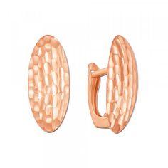 Золоті сережки з алмазною гранню. Артикул 02845 : купити в інтернет-магазині…