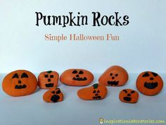 We did this one year -- Pumpkin Rocks --  and kids loved it. Hunting for the perfect rock was half their fun.