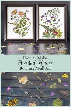 Here's a DIY that uses the natural beauty of flowers to create stunning pressed flower art. Gather some today and start creating your own masterpiece. #pressedflowers #botanical #wallart #flowers