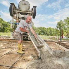 We'll take the mystery out of ordering concrete from a ready-mix company and explain everything you need to know, including concrete prices. Concrete Cost, Mix Concrete, Concrete Forms, Concrete Driveways, Concrete Projects, Outdoor Projects, Concrete Prices, Concrete Pad, Smooth Concrete