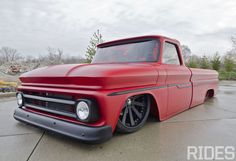 I love the color. Trucks a little too slammed Flat Red